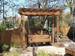 simple ideas of pergola swing plans new home design