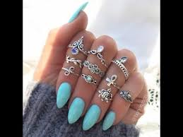 girl finger rings images Fashionable rings for girls multi finger rings jpg