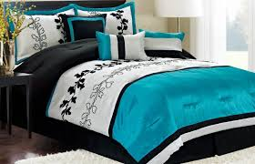 bedroom good looking blue and black bedroom decoration using furry