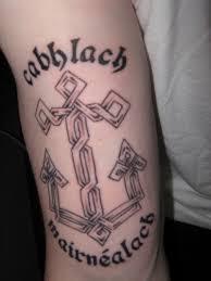 Celtic Cross Half - 10 celtic anchor tattoos ideas