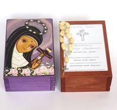 baptism jewelry box st of cascia box baptism keepsake box