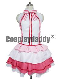 sao sword art online yuuki asuna idol ver singer pink stage dress