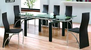 Glass Extendable Dining Table And 6 Chairs Glass Top Dining Table Sets Dining Room Furniture Of Dining