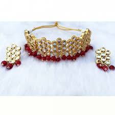 ethnic necklace jewelry images Meena kundan gold plated bridal designer handmade ethnic zircon jpg