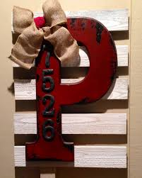 monogram and street address metal numbers both on sale from