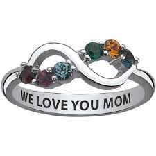 mothers infinity ring personalized s sterling silver birthstone infinity ring