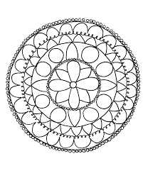 draw mandala free coloring pages