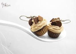food earrings chocolate cupcake earrings miniature food food jewelry
