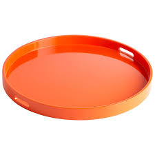 Design For Large Serving Tray Ideas Furniture Round Large Ottoman Tray In Orange For Home Furniture Ideas
