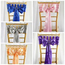 chair bows 100 chair sashes venue decorations ebay