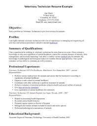 Radiologic Technologist Resume Examples Veterinary Technician Resume Examples Resume Example And Free