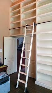 casters library stairs wooden rolling library ladder optimizing