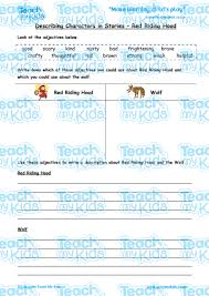 describing characters story red riding hood teach kids