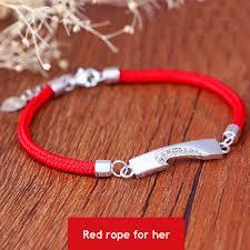 red rope bracelet images Coise couple bracelets black red rope bracelets set sterling jpg