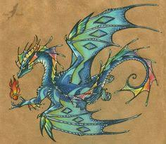 water dragon tattoo design by u003dalviaalcedo on deviantart