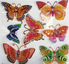 X D Butterfly Removable Foam Wall Stickers Sheet Art Decor Kids - Butterfly kids room