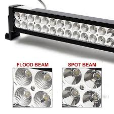 led security light bar rich solar 24 120w led work light bar spot flood combo offroad fog