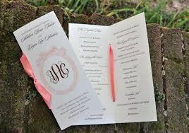 Christmas Wedding Programs Folded Sunflower Wedding Program Vintage Wedding Programs