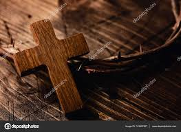 cross and crown of thorns of jesus stock photo nito103