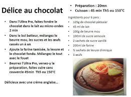 atelier cuisine tupperware délice au chocolat recette ultra pro https com les