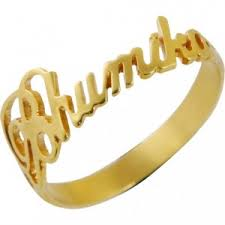 Name Ring Gold Ring Personalised Name Ring In Gold Opjr08 Online Shopping India