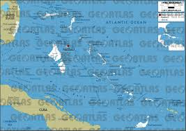 Map Bahamas Geoatlas Countries Bahamas Map City Illustrator Fully
