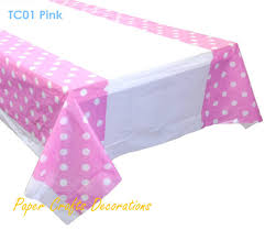 plastic table covers for weddings 108 180cm baby pink polka dots plastic table cover cloths wedding