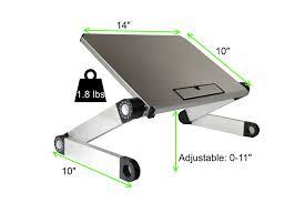 Laptop Cooling Desk by Amazon Com Uncaged Ergonomics Welb Workez Light Adjustable