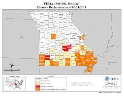 Flooding Missouri Map Missouri Severe Storms Tornadoes And Flooding Dr 1980 Fema Gov
