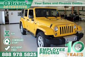 yellow jeep wrangler unlimited used 2015 jeep wrangler unlimited sahara accident free w command