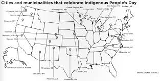 Map Of Columbus Indigenous People Fight For A Voice In Shadow Of Columbus Day