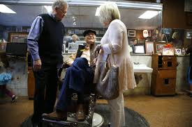 farewell whisperin u0027 richard customers visited longtime barber for