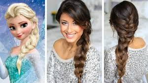 Tutorial Kepang Rambut Frozen | braiding hair like queen elsa in the film frozen youtube