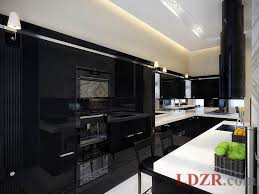 dark wood floor decor kitchen contemporary with open shelves