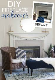 fireplace makeover diy dact us
