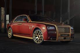 gold rolls royce mansory shows rolls royce ghost series ii upgrades