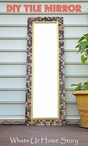 diy tile mirror tile mirror plywood and doors
