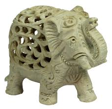 soapstone elephant with baby elephant inside u2013 decorative piece
