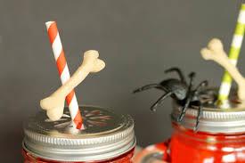 diy halloween party bone straws tutorial crafts unleashed