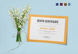 sample death certificate templates u2013 12 free word pdf documents