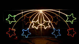 Christmas Decorations For Outdoor Lamps by Giant Shooting Star Christmas Outdoor Light Youtube