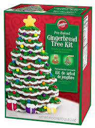 amazon com wilton pre baked gingerbread tree kit cookie mixes