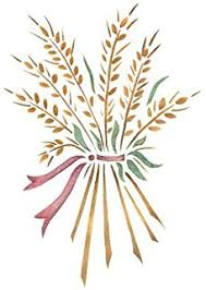 amazon com wheat sheaf stencil size 13