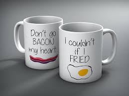 his and hers mug custom don t go bacon my heart his and hers mug set