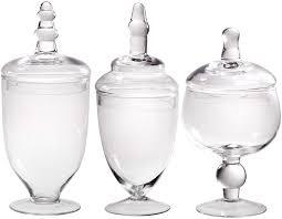 clear glass kitchen canister sets shop amazon com decorative jars