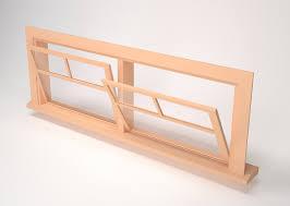 window types wooden window