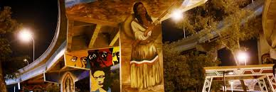 Chicano Park Murals Restoration by Go Ahead Build That Wall Artists Are Waiting To Paint On It Kcet