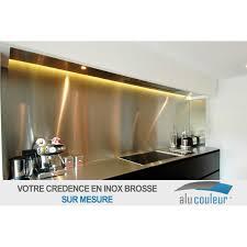 plaque aluminium pour cuisine crédence en inox brossé 60 cm x 80 cm 1mm alucouleur fr