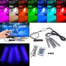 Color Interior Lights For Cars 4x 16 Color Rgb Led 5050smd String Lights For Car Interior