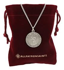 all round necklace images All patron saints round antiqued st christopher necklace medal in jpg